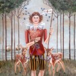 "Fawns of St. George 24"" X 30"" Oil on Canvas"